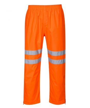 PPG Workwear Portwest Hi Vis Breathable Waterproof Trousers Orange Colour RT61