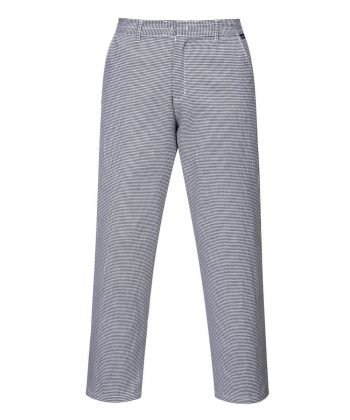 PPG Workwear Portwest Harrow Houndstooth Chefs Trousers S068 Black and White Colour