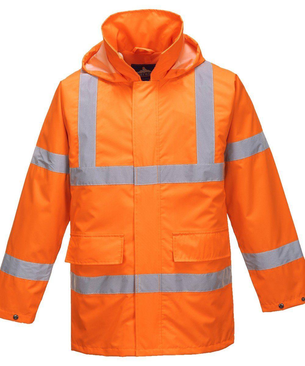 PPG Workwear Portwest Hi Vis Lite Traffic Jacket S160 Orange Colour