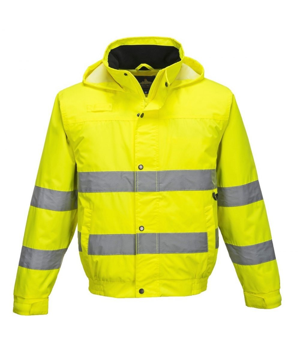 PPG Workwear Portwest Hi Vis Lite Bomber Jacket S161 Yellow Colour