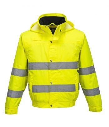 PPG Workwear Portwest Hi Vis Lite Bomber Jacket S161 Yellow Colour