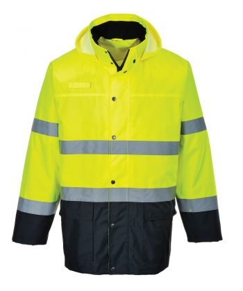 PPG Workwear Portwest Hi Vis Lite Two Tone Traffic Jacket S166 Yellow and Navy Colour