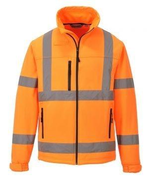 PPG Workwear Portwest Hi Vis Softshell Jacket S424 Orange Colour