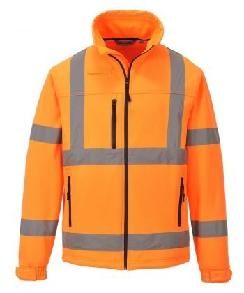 PPG Workwear Portwest Hi Vis Softshell Jacket S424 Orange Colour