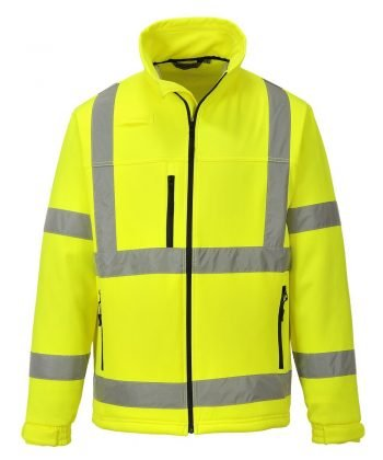 PPG Workwear Portwest Hi Vis Softshell Jacket S424 Yellow Colour