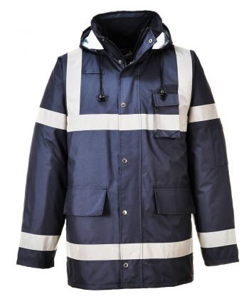 PP G Workwear Portwest Iona Lite Jacket S433 Navy Blue Colour with Reflective Bands