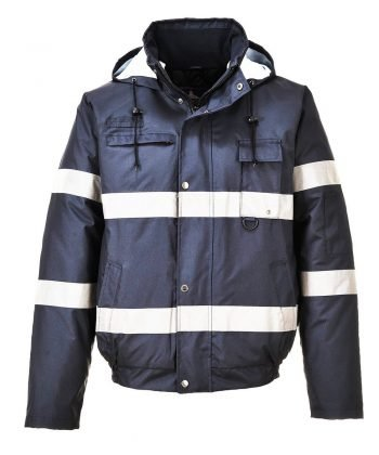 PPG Workwear Portwest Iona Lite Bomber Jacket S434 Navy Blue Colour with Reflective Bands