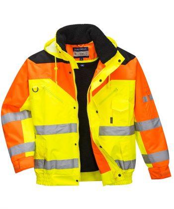 PPG Workwear Portwest Hi Vis Contrast Plus Bomber Jacket S464