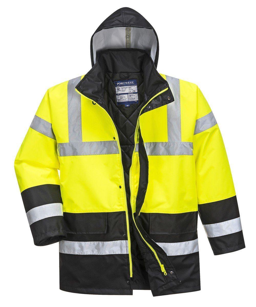 PPG Workwear Portwest Yellow/Black Hi Vis Contrast Traffic Jacket S466