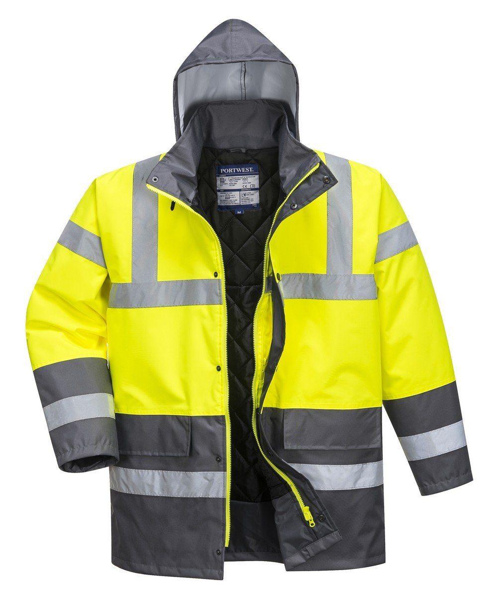 PPG Workwear Portwest Yellow/Grey Hi Vis Contrast Traffic Jacket S466