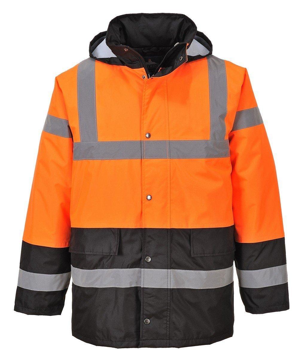 PPG Workwear Portwest Orange/Black Hi Vis Two Tone Traffic Jacket S467