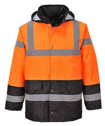 PPG Workwear Portwest Orange/Black Hi Vis Two Tone Traffic Jacket S467
