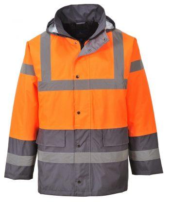 PPG Workwear Portwest Orange/Grey Hi Vis Two Tone Traffic Jacket S467