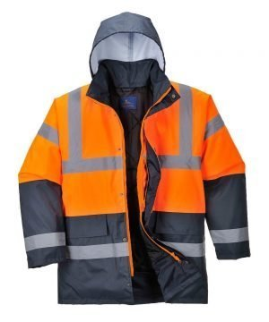PPG Workwear Portwest Orange/Navy Hi Vis Two Tone Traffic Jacket S467