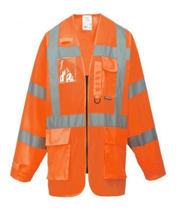 Portwest Hi Vis Orange Colour Long Sleeved Executive Vest S475