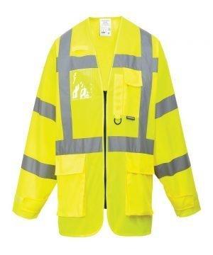 PPG Workwear Portwest Hi Vis Yellow Colour Long Sleeved Executive Vest S475