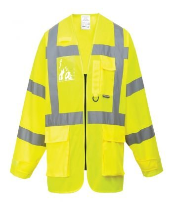 PPG Workwear Portwest Hi Vis Yellow Colour Long Sleeved Executive Vest S475