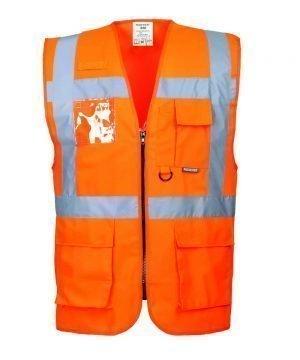 PPG Workwear Portwest Berlin Hi Vis Orange Colour Executive Vest S476