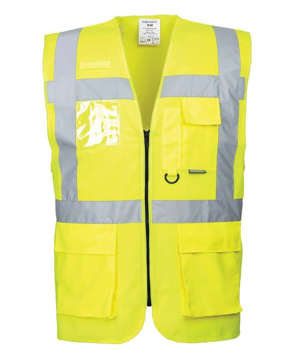 PPG Workwear Portwest Berlin Hi Vis Yellow Colour Executive Vest S476