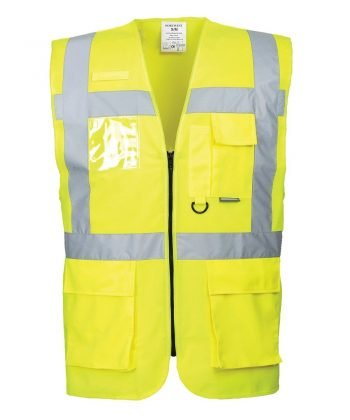 PPG Workwear Portwest Berlin Hi Vis Yellow Colour Executive Vest S476