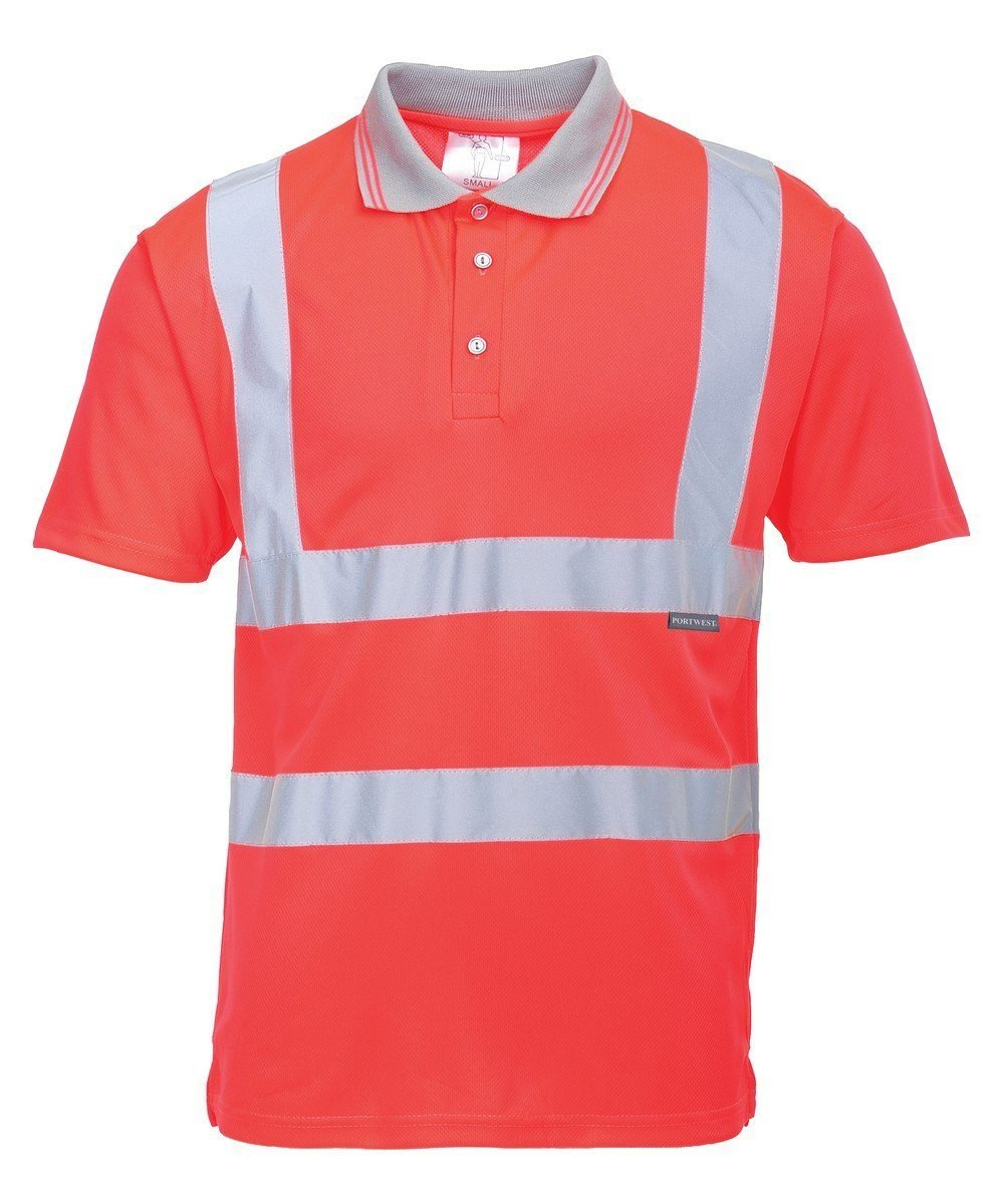 PPG Workwear Portwest Hi Vis Red Colour Polo Shirt S477