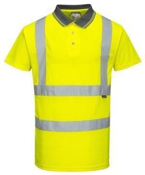 Portwest Hi Vis Yellow Colour Polo Shirt S477