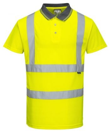 Portwest Hi Vis Yellow Colour Polo Shirt S477