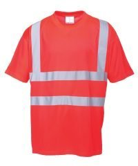 PPG Workwear Portwest Hi Vis Red Colour T-Shirt S478