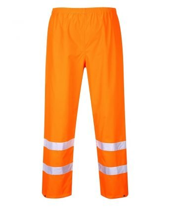 PPG Workwear Portwest Waterproof Hi-Vis Traffic Trouser Orange Colour S480