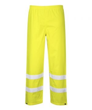 PPG Workwear Portwest Waterproof Hi-Vis Traffic Trouser Yellow Colour S480