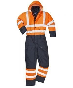 PPG Workwear Portwest Hi Vis Contrast Coverall Lined Orange and Navy Colour S485