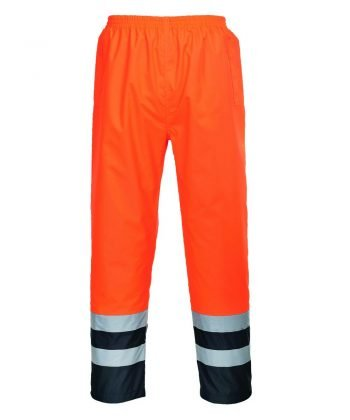 PPG Workwear Portwest Hi-Vis Two Tone Traffic Trouser Orange and Navy Colour S486