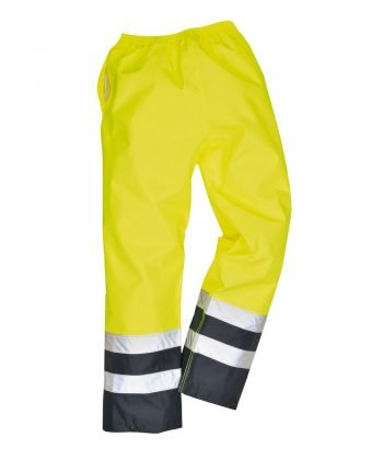 PPG Workwear Portwest Hi-Vis Two Tone Traffic Trouser Yellow and Navy Colour S486
