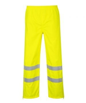 PPG Workwear Portwest Hi Vis Breathable Waterproof Trousers Yellow Colour S487