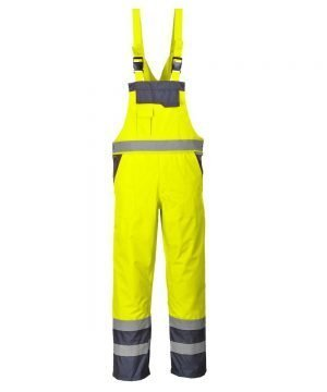 PPG Workwear Portwest Waterproof Contrast Bib/Brace Unlined Yellow and Navy Colour S488