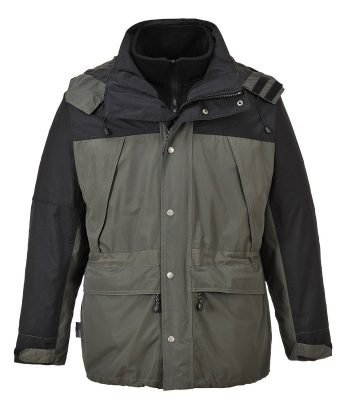 PPG Workwear Portwest Orkney 3 in 1 Breathable Jacket S532 Grey and Black Colour