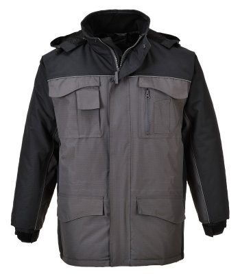 PPG Workwear Portwest RS Two-Tone Parka S562 Black and Grey Colour