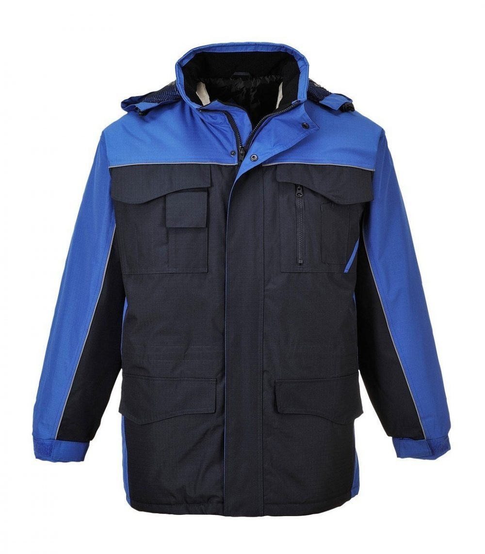 PPG Workwear Portwest RS Two-Tone Parka S562 Navy Blue and Royal Blue Colour