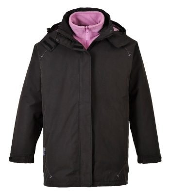 PPG Workwear Portwest Elgin 3 in 1 Ladies Jacket S571 Black Colour