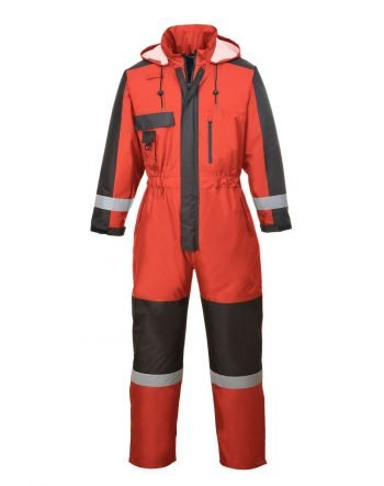 PPG Workwear Portwest Winter Coverall S585 Red and Black Colour