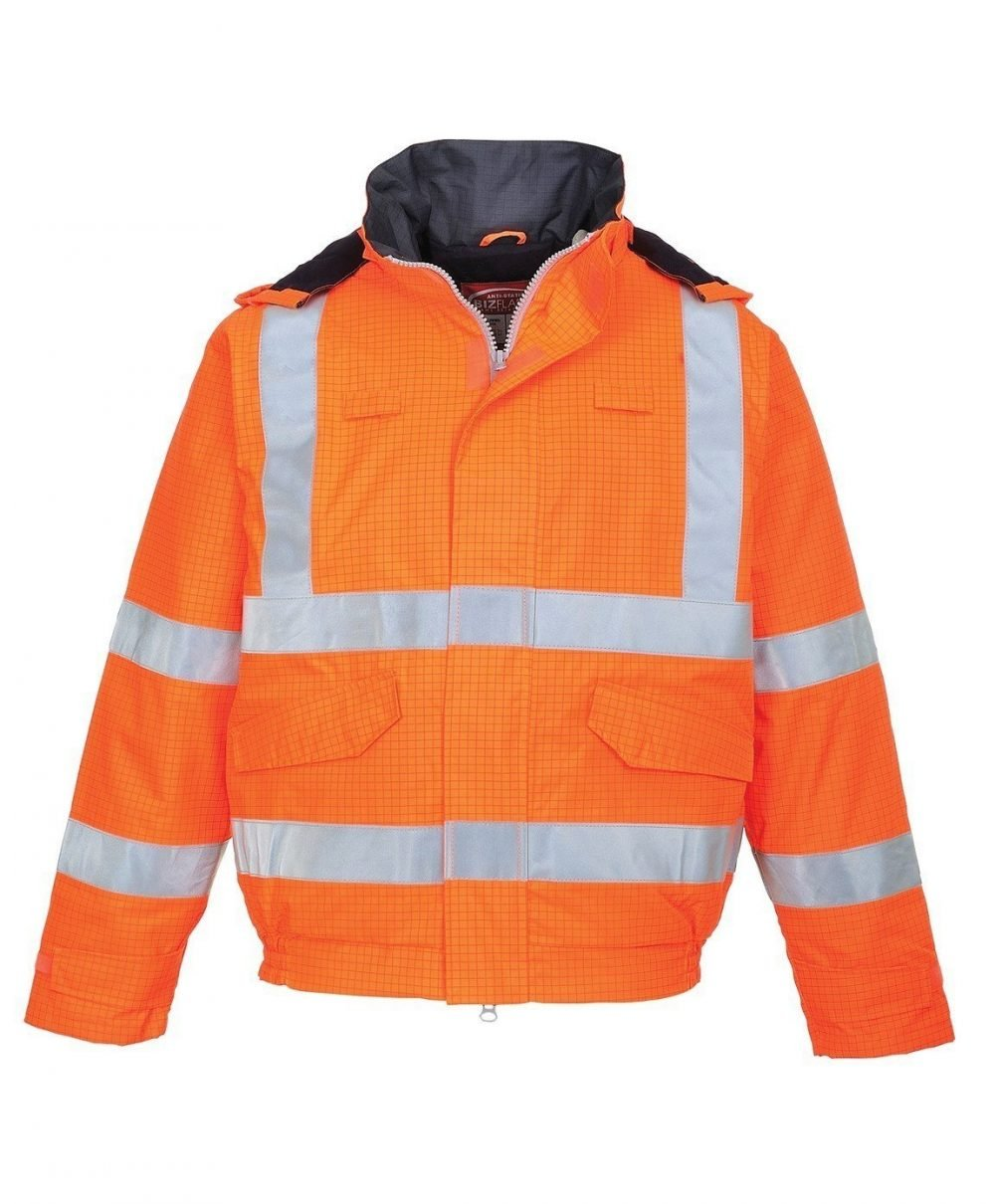 PPG Workwear Portwest Bizflame Rain FR Lined Bomber Jacket S773 Orange Colour