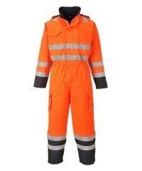 PPG Workwear Portwest Bizflame Rain Hi Vis Multi FR Coverall S775 Orange and Navy Blue Colour