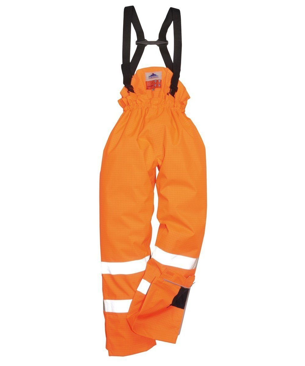 PPG Workwear Portwest Bizflame Rain FR Unlined Waterproof Trousers S780 Orange Colour