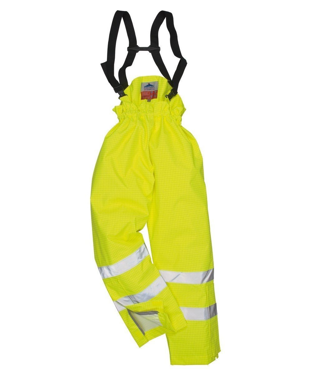 PPG Workwear Portwest Bizflame Rain FR Unlined Waterproof Trousers S780 Yellow Colour