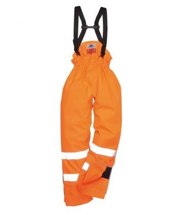 PPG Workwear Portwest Bizflame Rain FR Lined Waterproof Trousers S781 Orange Colour