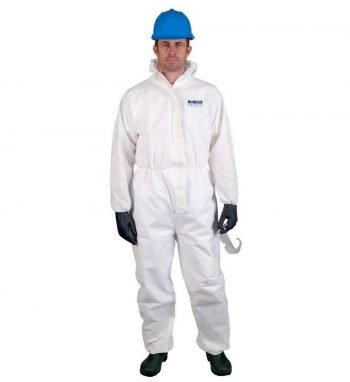 PPG Workwear Portwest Biztex SMS Type 5/6 FR Disposable Coverall ST80 White Colour with Hood