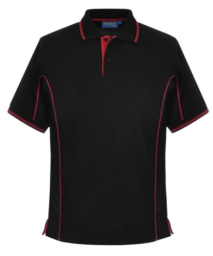 Papini Elite Polo Shirt EL1 Black and Red Colour