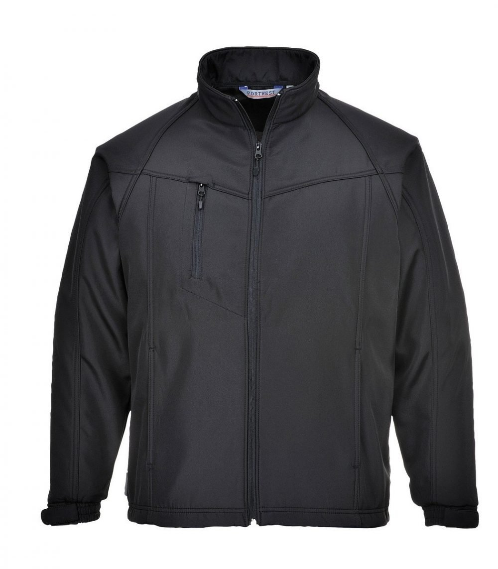 PPG Workwear Portwest Oregon Softshell Jacket TK40 Black Colour