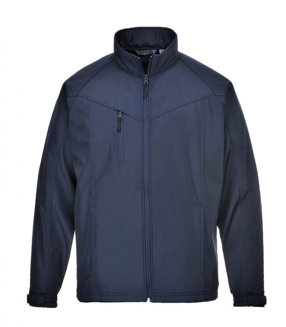 PPG Workwear Portwest Oregon Softshell Jacket TK40 Navy Blue Colour