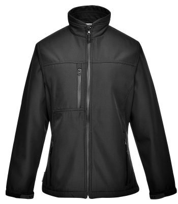 PPG Workwear Portwest Charlotte Ladies Softshell Jacket TK41 Black Colour
